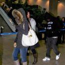 Rihanna And Chris Brown At LAX Airport - December 7, 2008