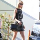 Taylor Swift In Short Skirt Heads To Fred Segal In West Hollywood