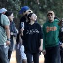 Selena Gomez with friends hiking in LA