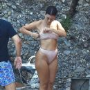 Kourtney Kardashian in Bikini in Portofino