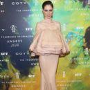 Coco Rocha wears Zac Posen - Fragrance Foundation Awards 2014