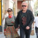 Salma Hayek and Francois-Henri Pinault are spotted out at a doctors office in Beverly Hills, California on August 29, 2016 - 454 x 519