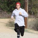 Justin Bieber is spotted out for a jog in Los Angeles, California on December 13, 2016