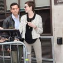 Anne Hathaway at the BBC Radio 1 studios in London, England (July 19)