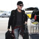Adam Lambert is seen at LAX on October 5, 2015