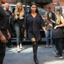 Kourtney Kardashian  seen arriving to Kanye West's fashion show in NYC on September 16, 2015