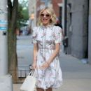 Naomi Watts in Floral Summer Dress – Leaves her apartment in New York