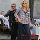 Rod Stewart and Penny Lancaster spotted out for lunch at the 208 Rodeo Restaurant in Beverly Hills, California on January 13, 2015 - 442 x 594