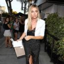 Denise Richards – Arriving at Andy Cohen's baby shower in Beverly Hills - 454 x 681
