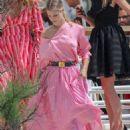 Joy Corrigan in Pink Dress at Eden Roc Hotel in Cannes - 454 x 681