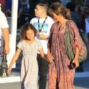 Halle Berry takes her daughter Nahla Aubry to the Grove in Los Angeles, California on June 17, 2016