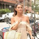 Lily Aldridge in Long Summer Dress out in New York - 454 x 681