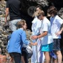 Vanessa Hudgens and Austin Butler mingled with model Luciana Gimenez Morad and her son Lucas Jagger in Portofino, Italy - 19 June 2016 - 400 x 600