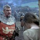 Malcolm Tierney as the Magistrate and Catherine McCormack as Murron MacClannough in Braveheart (1995) - 454 x 193