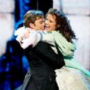 Sierra Boggess and Hadley Fraser