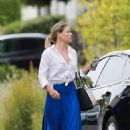 Ali Larter in Long Blue Skirt – Out in Hollywood