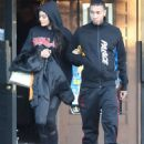 Kylie Jenner and her Boy Toy spotted leaving Yamato Restaurant December 18, 2016 Agoura Hills, CA