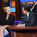 Charlize Theron – On The Late Show with Stephen Colbert in NYC