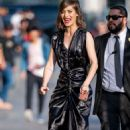 Lizzy Caplan at Jimmy Kimmel Live in Los Angeles