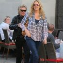 Rod Stewart and Penny Lancaster spotted out for lunch at the 208 Rodeo Restaurant in Beverly Hills, California on January 13, 2015
