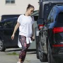 Minka Kelly in Tights hitting the gym in Los Angeles - 454 x 540