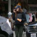 Elizabeth Olsen – Leaving a restaurant in LA