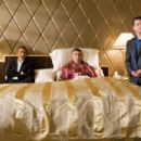 "(L-r) GEORGE CLOONEY as Danny Ocean, ELLIOTT GOULD as Reuben Tishkoff and MATT DAMON as Linus Caldwell in Warner Bros. Pictures' and Village Roadshow Pictures' ""Ocean's Thirteen,"" distributed by Warner Bros. Pictures. The fil"