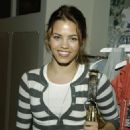 Jenna Dewan attends Young Fabulous and Broke Spring-Summer 2007 Launch on November 8, 2006