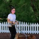 Aubrey Plaza – Takes her dogs for a quick walk in Los Angeles