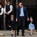 The Duke & Duchess Of Cambridge Depart The Lindo Wing With Their New Son - 454 x 303