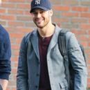 Ryan Guzman is seen leaving the Bowery Hotel in New York City, New York on January 22, 2015. Ryan has been in town promoting his new movie 'The Boy Next Door'