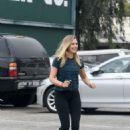 Elizabeth Olsen in Tights at a gym in West Hollywood
