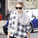 Rooney Mara walking around Soho in NYC with her Umbrella (July 29)