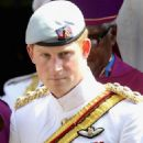 Prince Harry is impressive in uniform as he attends a morning prayer service on Sunday (March 4) in Nassau, New Providence, the Bahamas