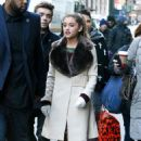 Ariana Grande and boyfriend, Nathan Sykes of The Wanted seen walking in New York City. (November 24)