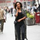 Rochelle Humes – Leaves Global Radio in London - 454 x 617