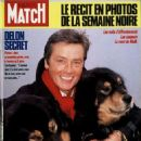 Alain Delon - Paris Match Magazine Cover [France] (December 1986)