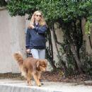 Amanda Seyfried is seen with her dog Finn on February 21, 2017