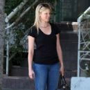 Amy Smart - Leaves Madeo's Restaurant, 2009-05-22