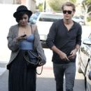 Austin Butler and Vanessa Hudgens were spotted grabbing gas, February 25, in Studio City