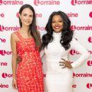Jordana Brewster on 'Lorraine' TV Show in London - 454 x 631