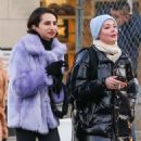 Rose McGowan and friend – Out in New York - 454 x 681