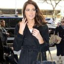 Ashley Greene arriving at CBS studios (November 14)