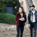 Alessandra Ambrosio & Family Out In Santa Monica - 440 x 600
