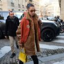 Bella Hadid – Leaves her hotel and heads to a fashion fitting in Paris