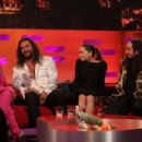 Regina King, Jason Momoa, Emilia Clarke and Ross Noble at the Graham Norton Show in London