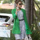 Eva Mendes Leaving A Salon In La
