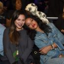 Rihanna attend as Roc Nation Sports Presents: Throne Boxing At The Theater At Madison Square Garden on January 9, 2015 in New York City