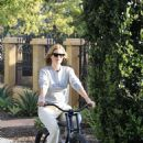 Rosie Huntington Whiteley enjoys a bike ride in Los Angeles