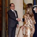 State Dinner in Honor of King Willem-Alexander of the Netherlands and Queen Maxima At Elysee Palace